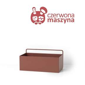 Kwietnik wiszący ferm LIVING Red Brown Rectangle