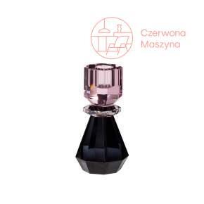 Szklany świecznik Hübsch, pink/smoked