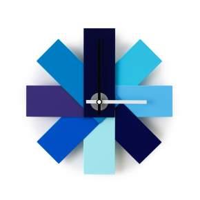Zegar ścienny Normann Copenhagen Watch me Ø 28,5 cm, niebieski