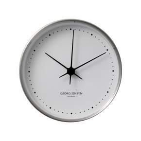Zegar ścienny Georg Jensen Koppel Ø 22 cm, srebrny