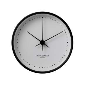 Zegar ścienny Georg Jensen Koppel Ø 22 cm, czarny