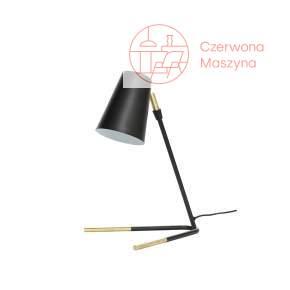 Lampa na biurko Hübsch Tiki, czerń i mosiądz
