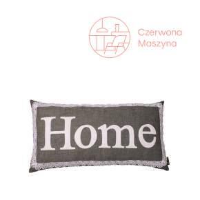 Poduszka Lilyshop Home z koronką, jasnoszara