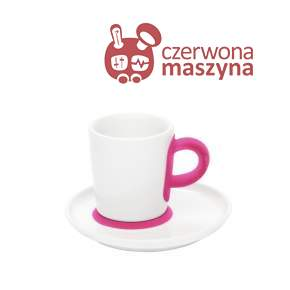Filiżanka do espresso ze spodkiem Kahla touch! FIVE SENSES pink 90 ml
