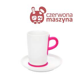 Filiżanka do macchiato ze spodkiem Kahla touch! FIVE SENSES pink 350 ml