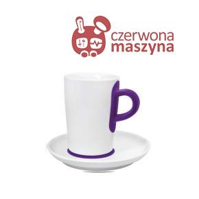 Filiżanka do macchiato ze spodkiem Kahla touch! FIVE SENSES violet 350 ml