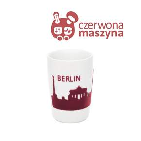 Kubek Kahla touch! FIVE SENSES Skyline Berlin 350 ml, czerwony