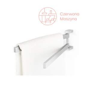 Reling łazienkowy podwójny Zack Linea 44,5 cm, szczotkowany