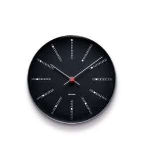 Zegar ścienny Rosendahl Bankers Arne Jacobsen Ø 21 cm, czarny