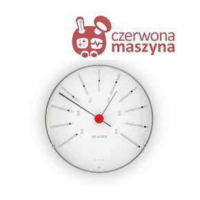 Zegar ścienny z barometrem Rosendahl Bankers Arne Jacobsen