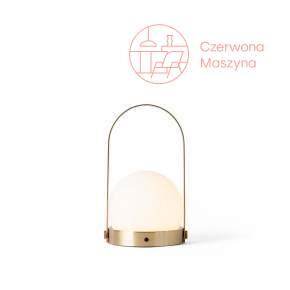 Lampa stołowa bezprzewodowa LED Menu Carrie, brushed brass