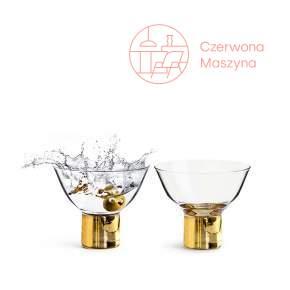 2 kieliszki koktajlowe Sagaform Club 150 ml, złote
