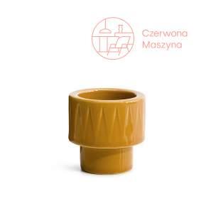 Kieliszek na jajko/świecznik tealight, Sagaform Coffee, żółty