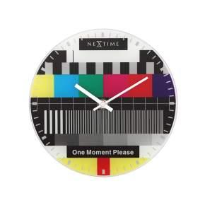 Zegar ścienny NeXtime Little Testpage Ø 20 cm