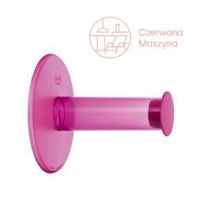 Uchwyt na papier toaletowy Koziol Plug'n roll różowy przezroczysty