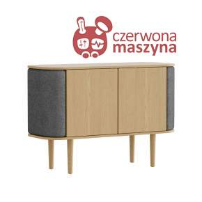 Komoda 2-drzwiowa Umage Treasures, Oak, Slate Grey