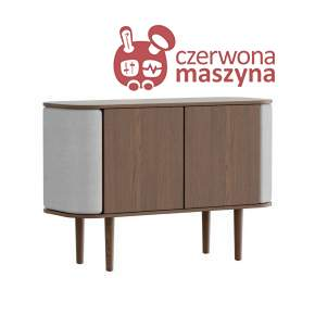 Komoda 2-drzwiowa Umage Treasures, Dark Oak, Silver Grey