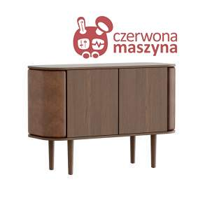 Komoda 2-drzwiowa Umage Treasures, Dark Oak, Brown, eko skóra