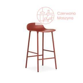 Krzesło barowe Normann Copenhagen Form 65 cm stal, czerwone
