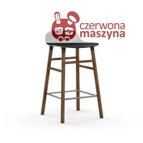 Krzesło barowe Normann Copenhagen Form 65 cm orzech, czarne