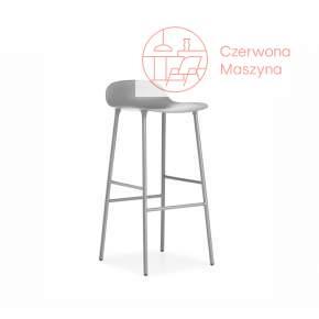 Krzesło barowe Normann Copenhagen Form 75 cm stal, szare