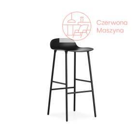 Krzesło barowe Normann Copenhagen Form 75 cm stal, czarne