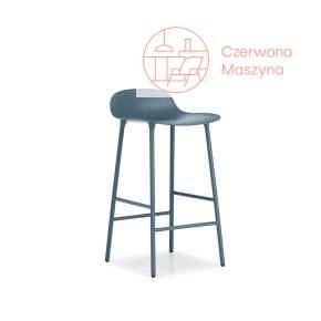 Krzesło barowe Normann Copenhagen Form 75 cm stal, niebieskie