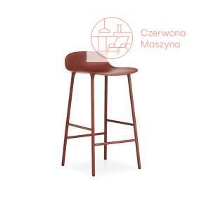 Krzesło barowe Normann Copenhagen Form 75 cm stal, czerwone