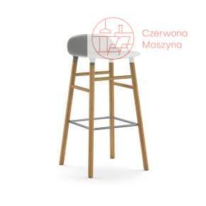 Krzesło barowe Normann Copenhagen Form 75 cm dąb, szare