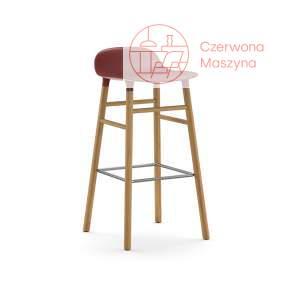 Krzesło barowe Normann Copenhagen Form 75 cm dąb, czerwone