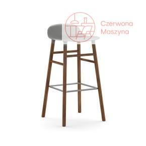 Krzesło barowe Normann Copenhagen Form 75 cm orzech, szare