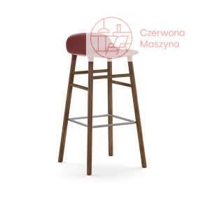 Krzesło barowe Normann Copenhagen Form 75 cm orzech, czerwone