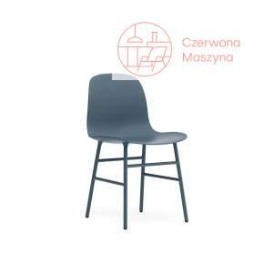 Krzesło Normann Copenhagen Form stal, niebieskie