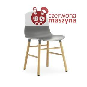 Krzesło Normann Copenhagen Form dąb, szare