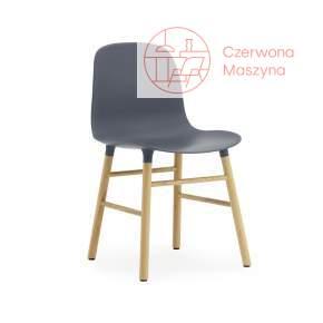 Krzesło Normann Copenhagen Form dąb, granatowe