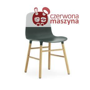 Krzesło Normann Copenhagen Form dąb, ciemnozielone