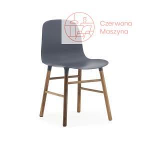 Krzesło Normann Copenhagen Form orzech, granatowe