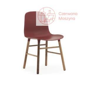 Krzesło Normann Copenhagen Form orzech, bordowe