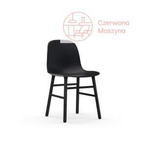 Krzesło Normann Copenhagen Form, czarne z czarnymi nogami
