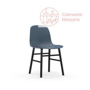 Krzesło Normann Copenhagen Form, niebieskie z czarnymi nogami