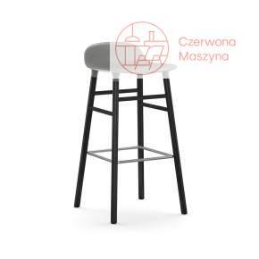 Krzesło barowe Normann Copenhagen Form 75 cm dąb, szare z czarnymi nogami
