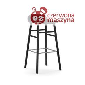 Krzesło barowe Normann Copenhagen Form 75 cm dąb, czarne z czarnymi nogami