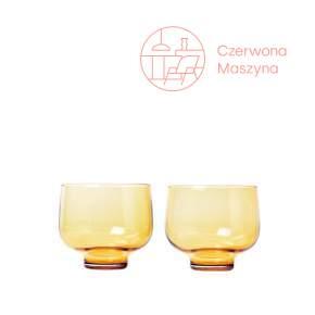 2 szklanki Blomus Flow 220 ml, dull gold