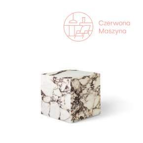 Stolik marmurowy Menu Plinth 40 x 40 x 40 cm, rose calacatta