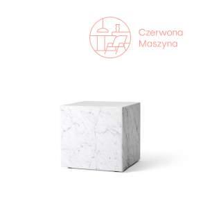 Stolik marmurowy Menu Plinth 40 x 40 x 40 cm, biały