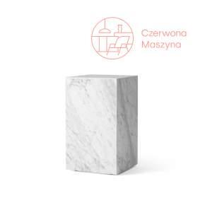 Stolik marmurowy Menu Plinth 30 x 30 x 51 cm, biały