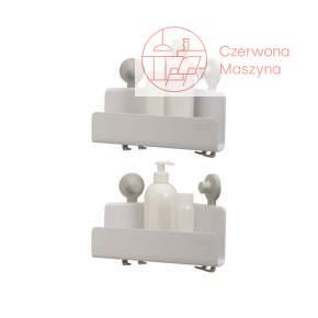 2 półki narożne prysznicowe Joseph Joseph EasyStore, białe