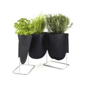Donica Authentics Urban Garden Ø 9 cm, czarna zieleń