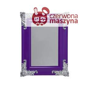 Lustro wiszące Kare Design Ornament Shiny Purple 78 x 58 cm