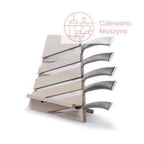 Zestaw 5 noży w bloku Bugatti Trattoria, drewno jesionowe